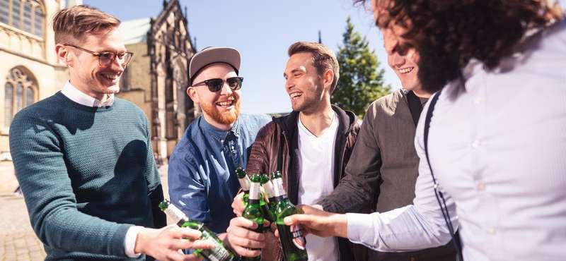 CityGames Düsseldorf: Junggesellenabschied Tour und Kerle haben Spaß